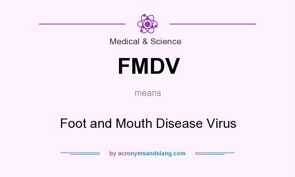 What does FMDV mean? It stands for Foot and Mouth Disease Virus