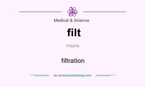 What does filt mean? It stands for filtration