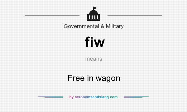 What does fiw mean? It stands for Free in wagon