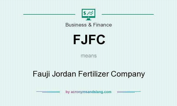 What does FJFC mean? It stands for Fauji Jordan Fertilizer Company