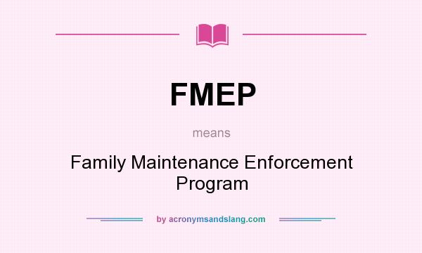 what is family maintenance