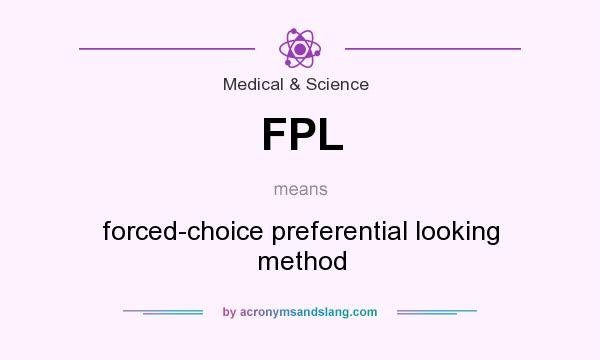 What does FPL mean? It stands for forced-choice preferential looking method