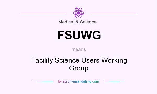What does FSUWG mean? It stands for Facility Science Users Working Group