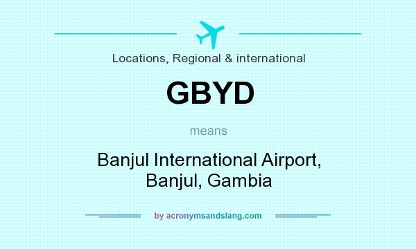 What does GBYD mean? It stands for Banjul International Airport, Banjul, Gambia