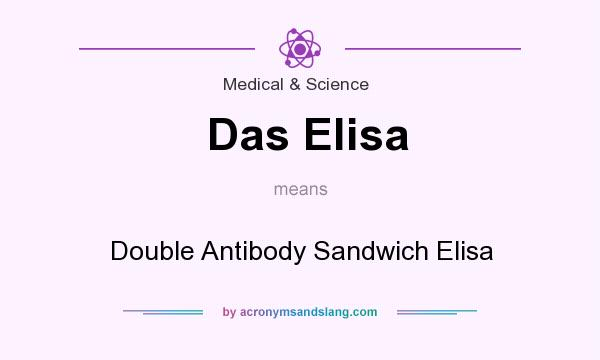 What does Das Elisa mean? It stands for Double Antibody Sandwich Elisa