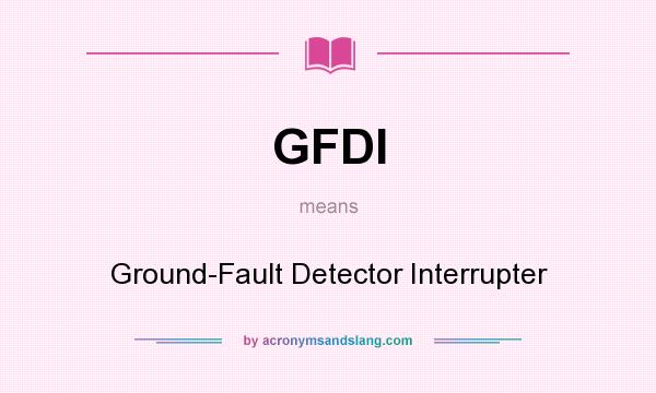 Ground Fault Locator : Gfdi ground fault detector interrupter in undefined by