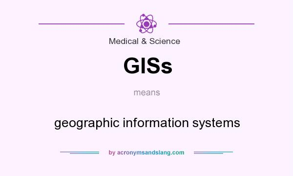 What does GISs mean? It stands for geographic information systems