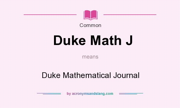 Duke Math Journal