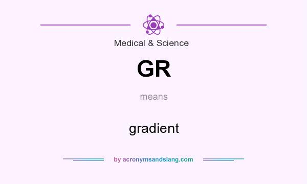 What does GR mean? It stands for gradient