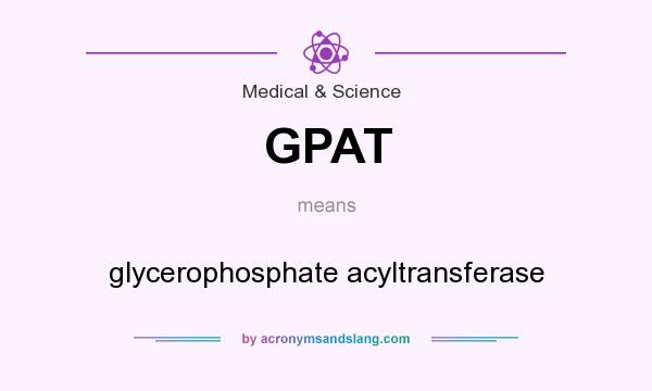 What does GPAT mean? It stands for glycerophosphate acyltransferase