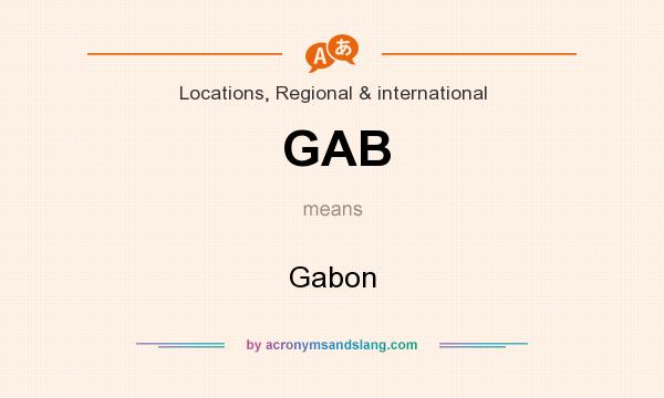 What does GAB mean? It stands for Gabon