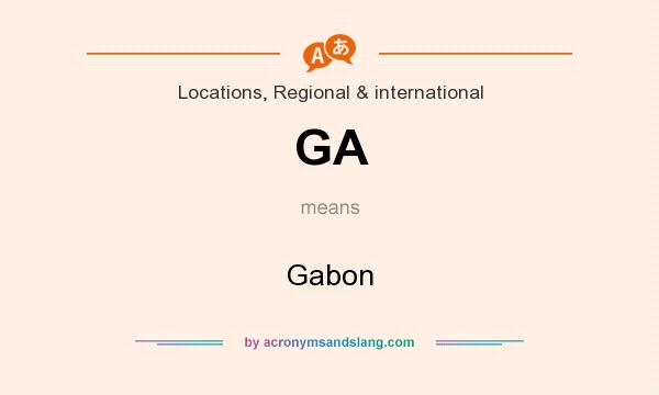 What does GA mean? It stands for Gabon