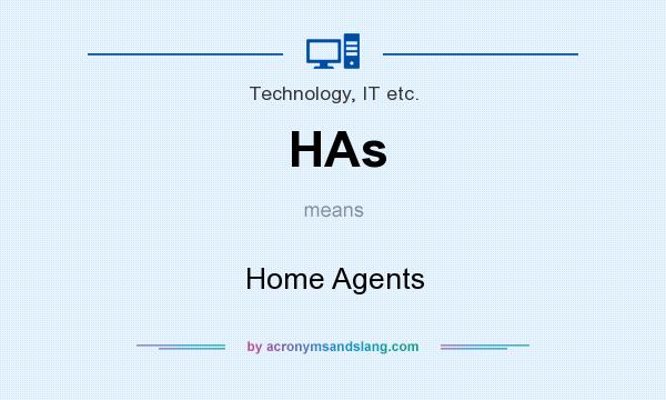 What does HAs mean? It stands for Home Agents