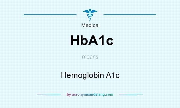 What does HbA1c mean? It stands for Hemoglobin A1c
