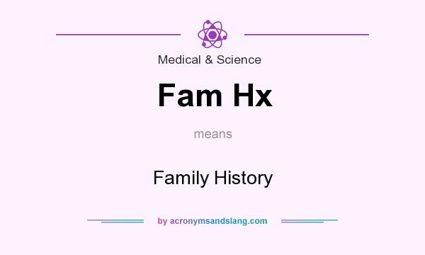 What does Fam Hx mean? It stands for Family History