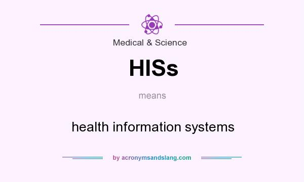 What does HISs mean? It stands for health information systems