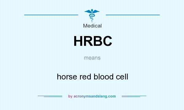 What does HRBC mean? It stands for horse red blood cell