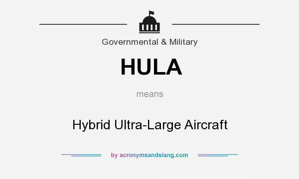 What does HULA mean? It stands for Hybrid Ultra-Large Aircraft