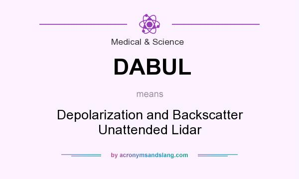 What does DABUL mean? It stands for Depolarization and Backscatter Unattended Lidar