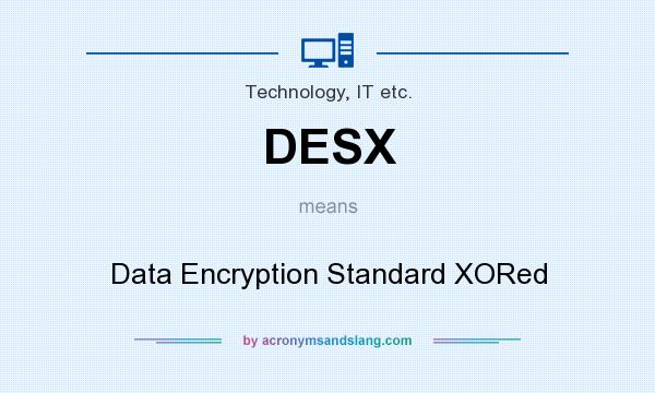 What does DESX mean? It stands for Data Encryption Standard XORed