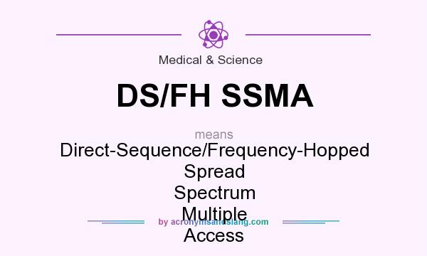What does DS/FH SSMA mean? It stands for Direct-Sequence/Frequency-Hopped Spread Spectrum Multiple Access