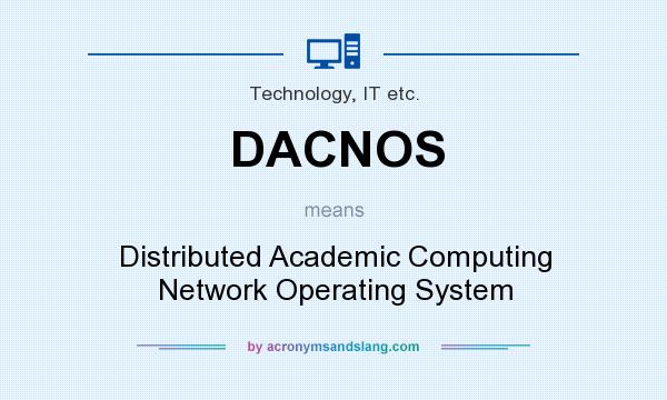 What does DACNOS mean? It stands for Distributed Academic Computing Network Operating System