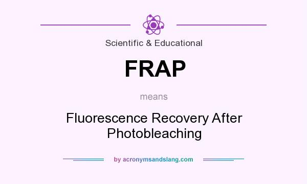 What does FRAP mean? It stands for Fluorescence Recovery After Photobleaching