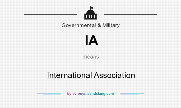 What does IA mean? It stands for International Association