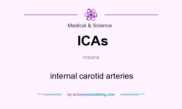 What does ICAs mean? It stands for internal carotid arteries