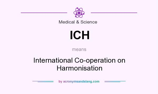What does ICH mean? It stands for International Co-operation on Harmonisation