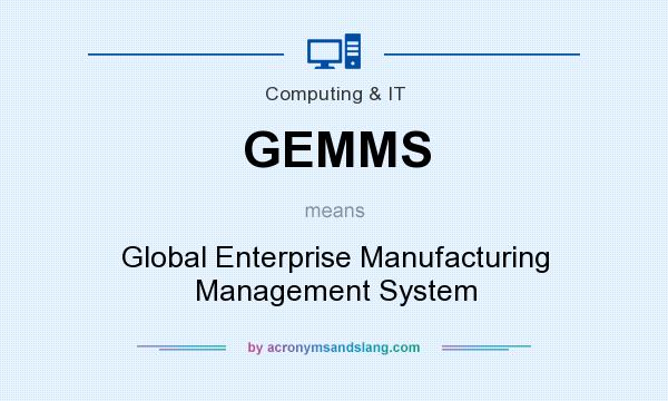 What does GEMMS mean? It stands for Global Enterprise Manufacturing Management System