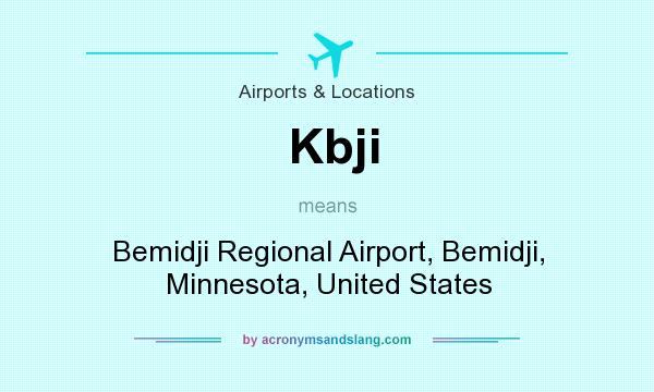 What does Kbji mean? It stands for Bemidji Regional Airport, Bemidji, Minnesota, United States