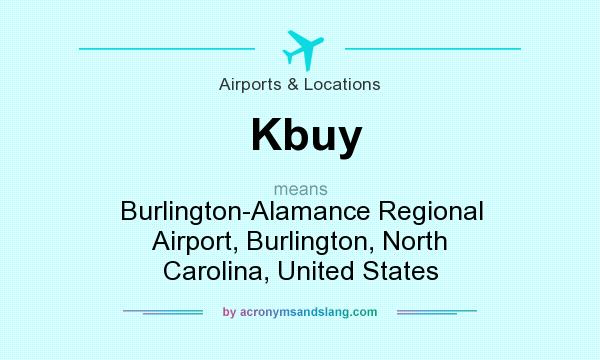 What does Kbuy mean? It stands for Burlington-Alamance Regional Airport, Burlington, North Carolina, United States
