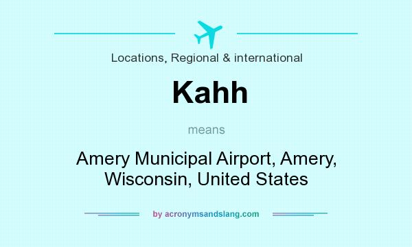 What does Kahh mean? It stands for Amery Municipal Airport, Amery, Wisconsin, United States