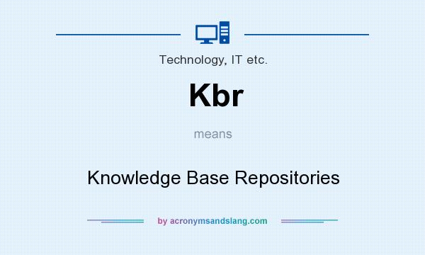 What does Kbr mean? It stands for Knowledge Base Repositories