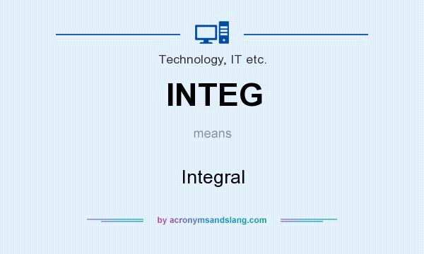 What does INTEG mean? It stands for Integral