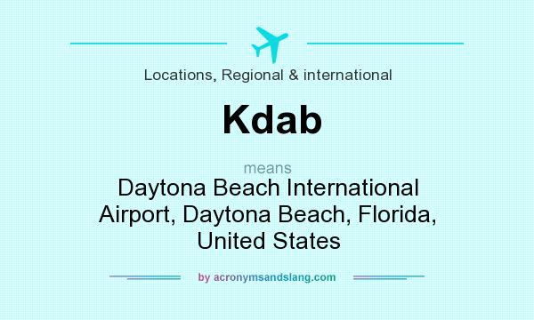 What does Kdab mean? It stands for Daytona Beach International Airport, Daytona Beach, Florida, United States
