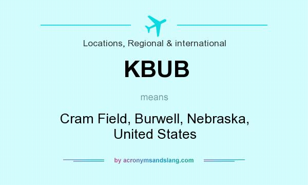 What does KBUB mean? It stands for Cram Field, Burwell, Nebraska, United States