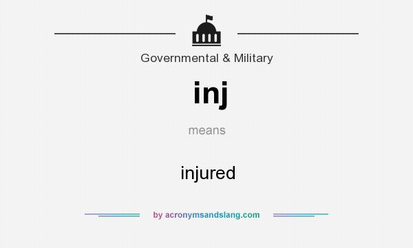 What does inj mean? It stands for injured