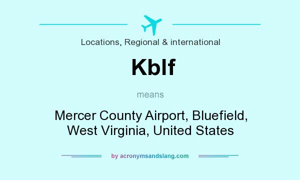 What does Kblf mean? It stands for Mercer County Airport, Bluefield, West Virginia, United States
