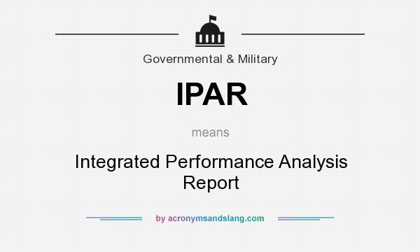 Ipar  Integrated Performance Analysis Report In Government