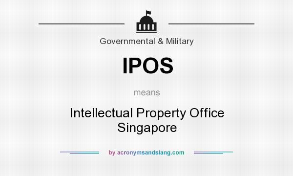 What does IPOS mean? It stands for Intellectual Property Office Singapore