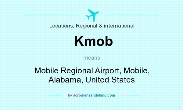What does Kmob mean? It stands for Mobile Regional Airport, Mobile, Alabama, United States