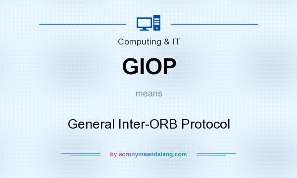 What does GIOP mean? It stands for General Inter-ORB Protocol