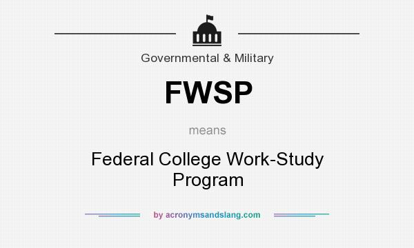 how does college work study program work
