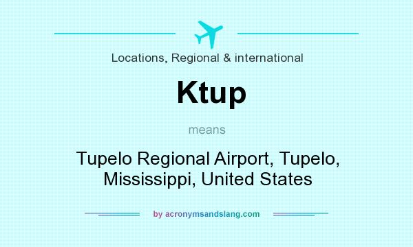 What does Ktup mean? It stands for Tupelo Regional Airport, Tupelo, Mississippi, United States
