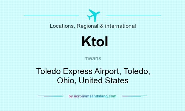 What does Ktol mean? It stands for Toledo Express Airport, Toledo, Ohio, United States