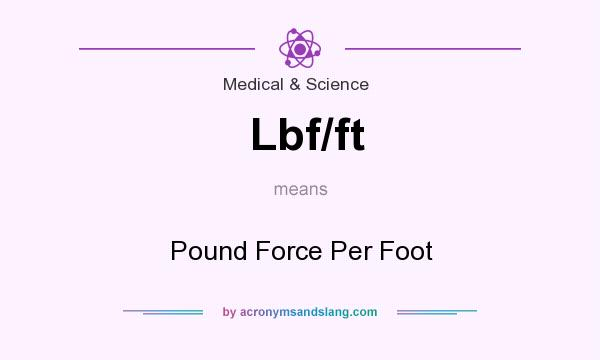 What does Lbf/ft mean? It stands for Pound Force Per Foot