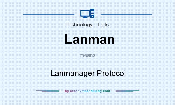 What does Lanman mean? It stands for Lanmanager Protocol