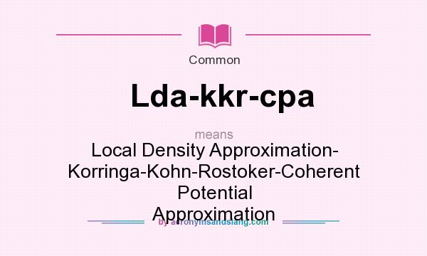 What does Lda-kkr-cpa mean? - ...